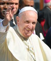 ローマ法王フランシスコ=2016年2月、ハバナ(共同)