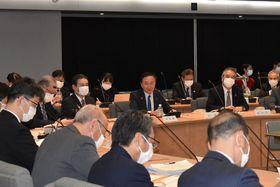 県の基本方針を示した危機管理対策本部会議=県庁