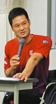パラリンピックまで1年。「自分の中でカウントダウンが始まった」と語る国枝慎吾さん=柏市で