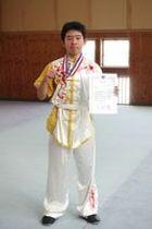全日本武術太極拳選手権大会の「長拳」の部で優勝した高山さん