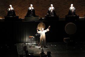 オープニングで上演された「羯諦羯諦」=宇奈月国際会館「セレネ」