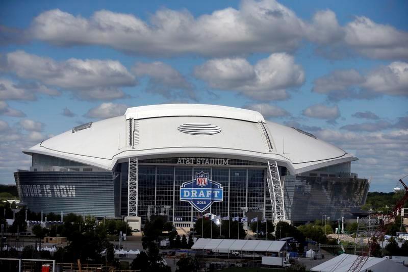 今年のドラフト会場となる、テキサス州アーリントンにあるAT&Tスタジアム(AP=共同)