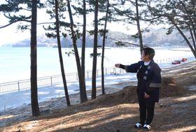 観光地として釜石市が復旧整備を予定する根浜海岸周辺=釜石市鵜住居町
