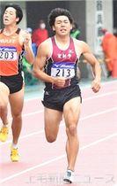 男子400メートル決勝 46秒84で準優勝した小渕(登利平)=埼玉・熊谷スポーツ文化公園陸上競技場