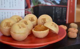 鵜戸神宮の運玉を模した「日南完熟金柑(きんかん)もなか 運つゝみ」