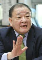 韓日議員連盟の姜昌一会長=2018年12月、ソウル(共同)