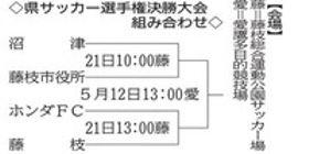静岡県サッカー選手権決勝大会組み合わせ