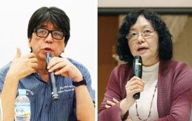 映画監督の森達也さん(左)とジャーナリストの江川紹子さん(右)