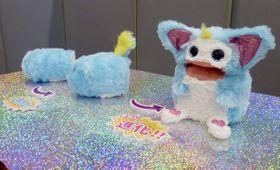 タカラトミーが自社開発した「Rizmo(リズモ)」=12日、東京都港区