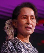 ミャンマーのアウン・サン・スー・チー国家顧問兼外相(AP=共同)