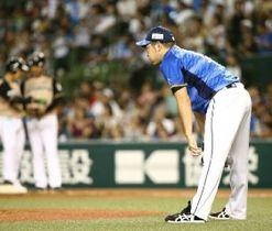 7回2死三塁、日本ハム・近藤に同点適時打を許した西武・菊池