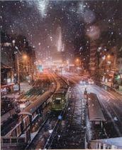 グランプリに輝いたaym.hrdさんの作品「雪路と路面電車」