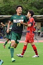 【JFC宮崎-新日鉄住金大分】後半15分、2点目のゴールを決めたJFC宮崎のFW白坂
