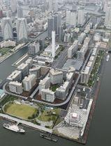 東京五輪・パラリンピックの選手村=7月、東京都中央区