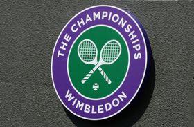 ウィンブルドン選手権のロゴ(ロイター=共同)