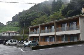 諸塚村の特養ホーム女子職員用住宅建設予定地(左奥)