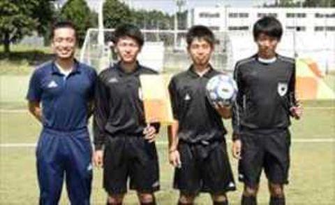 サッカー 栃木大会で作新大の3人が審判員