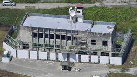 岩手県大槌町の旧役場庁舎=2018年7月