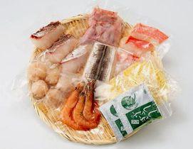 賞味期限切れの冷凍麺が混入した可能性がある鹿児島県志布志市の返礼品の海鮮鍋セット(ふるさとチョイスのホームページから)