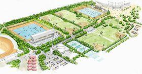 大井ホッケー競技場のイメージ図(都提供)