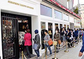 開店時に50人以上が列を作ったセガフレード・ザネッティ・エスプレッソいわきラトブ店