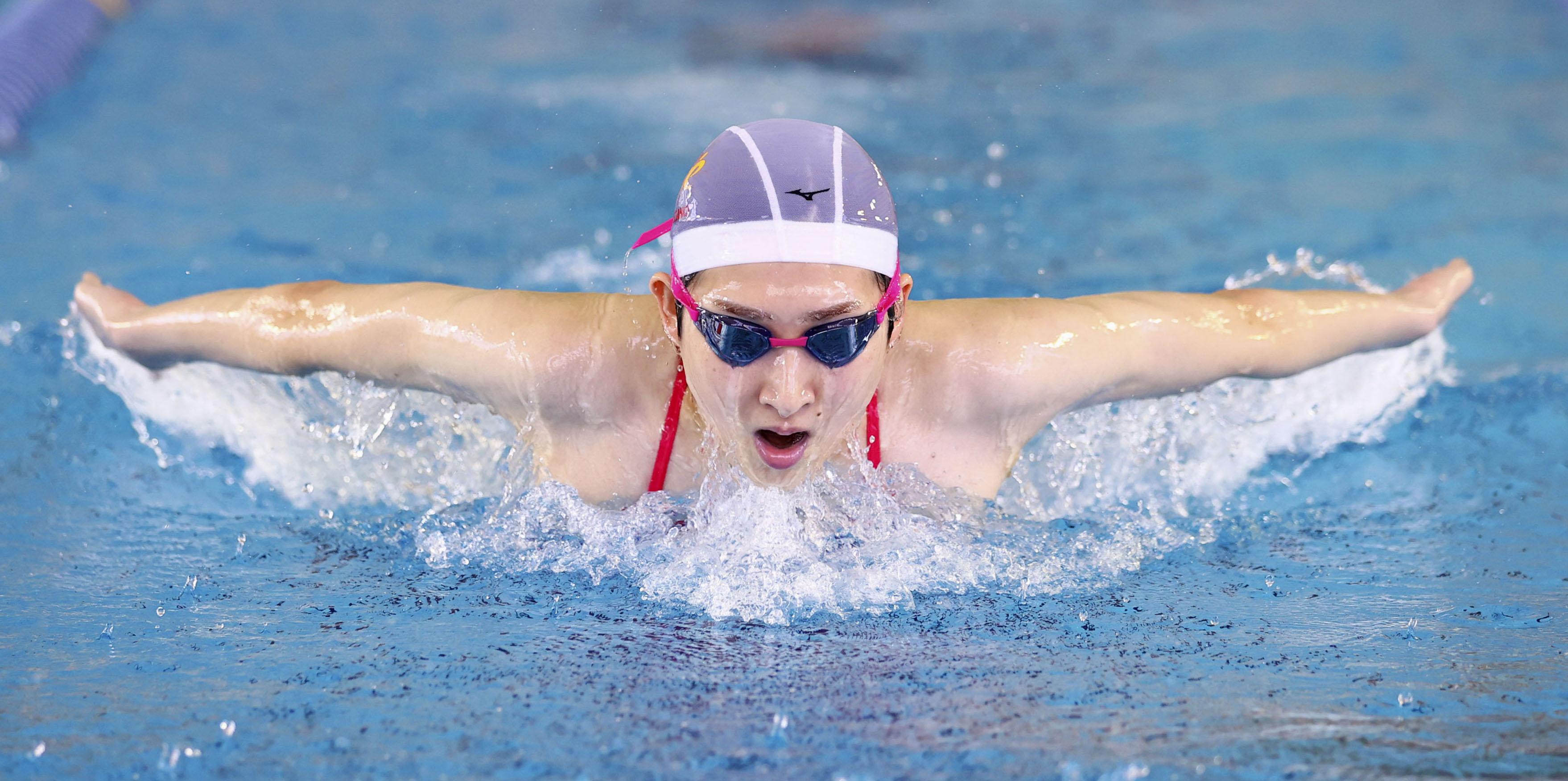 競泳の池江、10月実戦が目標 学生選手権へ「練習励む」