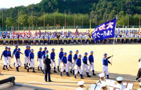 還暦野球に1700人、白球追い熱戦 京都で全国大会開会式