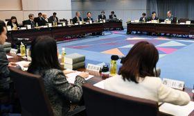 民法の相続分野の見直しを進める法制審議会の部会=16日午後、法務省