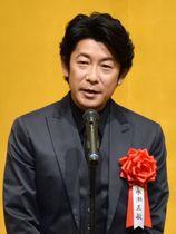 芸術選奨の贈呈式であいさつする永瀬正敏さん=13日午後、東京都千代田区