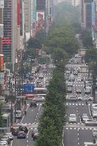 東京五輪マラソン・競歩のコースになっている札幌駅前通=4日午後5時ごろ(伊丹恒撮影)
