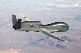 イラン革命防衛隊が撃墜した米軍の無人偵察機の同型機(米空軍提供・ロイター=共同)