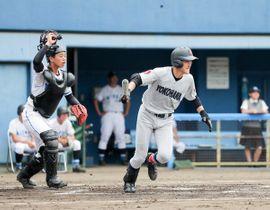 横浜-三浦学苑】1回、横浜の内海が先制打を放つ