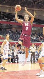 高校バスケ 明成の八村、44得点 準決勝進出に貢献「ここからが勝負」