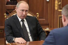 ロシアのプーチン大統領=3月15日、モスクワ(タス=共同)