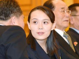 韓国大統領府を訪れた北朝鮮の金与正・朝鮮労働党第1副部長ら=10日(聯合=共同