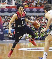 日本代表のキャプテンとして「激動の一年だった」と振り返った川崎ブレイブサンダースの篠山