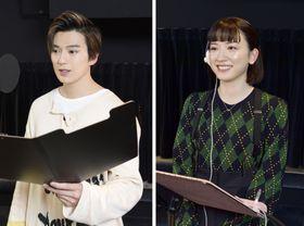 アニメ映画「二ノ国」で声優を務める新田真剣佑(左)と永野芽郁