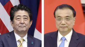 安倍晋三首相、中国の李克強首相