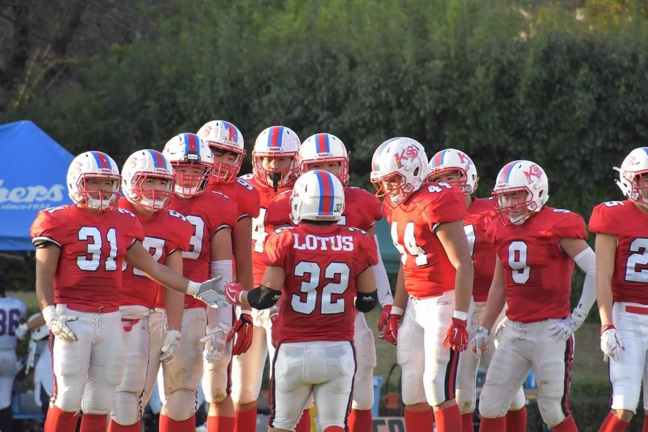 安定感が光る佼成学園の守備陣=佼成学園高校アメリカンフットボール部提供