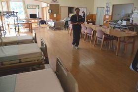 停電の影響で施設利用者の受け入れができない状態が続いた=2日午前、御前崎市の佐倉デイサービスセンター
