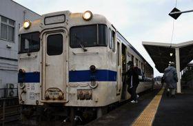 減便や運転区間の短縮が決まった日南線=15日午後、串間市・JR串間駅