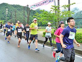 2年ぶりの開催となった大会を楽しみながら走る参加者