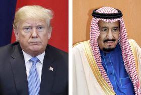 トランプ米大統領、サウジアラビアのサルマン国王