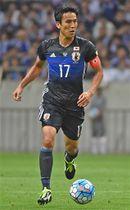 サッカー日本代表に選出された長谷部誠選手=2016年9月、埼玉スタジアム