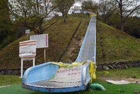 「日本一危険な滑り台」として話題になった滑り台