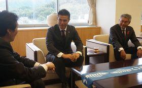 サンガ監督「市民と歩みたい」 京都・亀岡スタジアムで