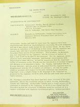 機密解除されたホワイトハウス作成の会談録の一部=米カリフォルニア州のニクソン大統領図書館(共同)