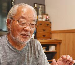 「旧経営陣は自らの保身しか考えていないように思えた」と話す菅野正克さん=水戸市で