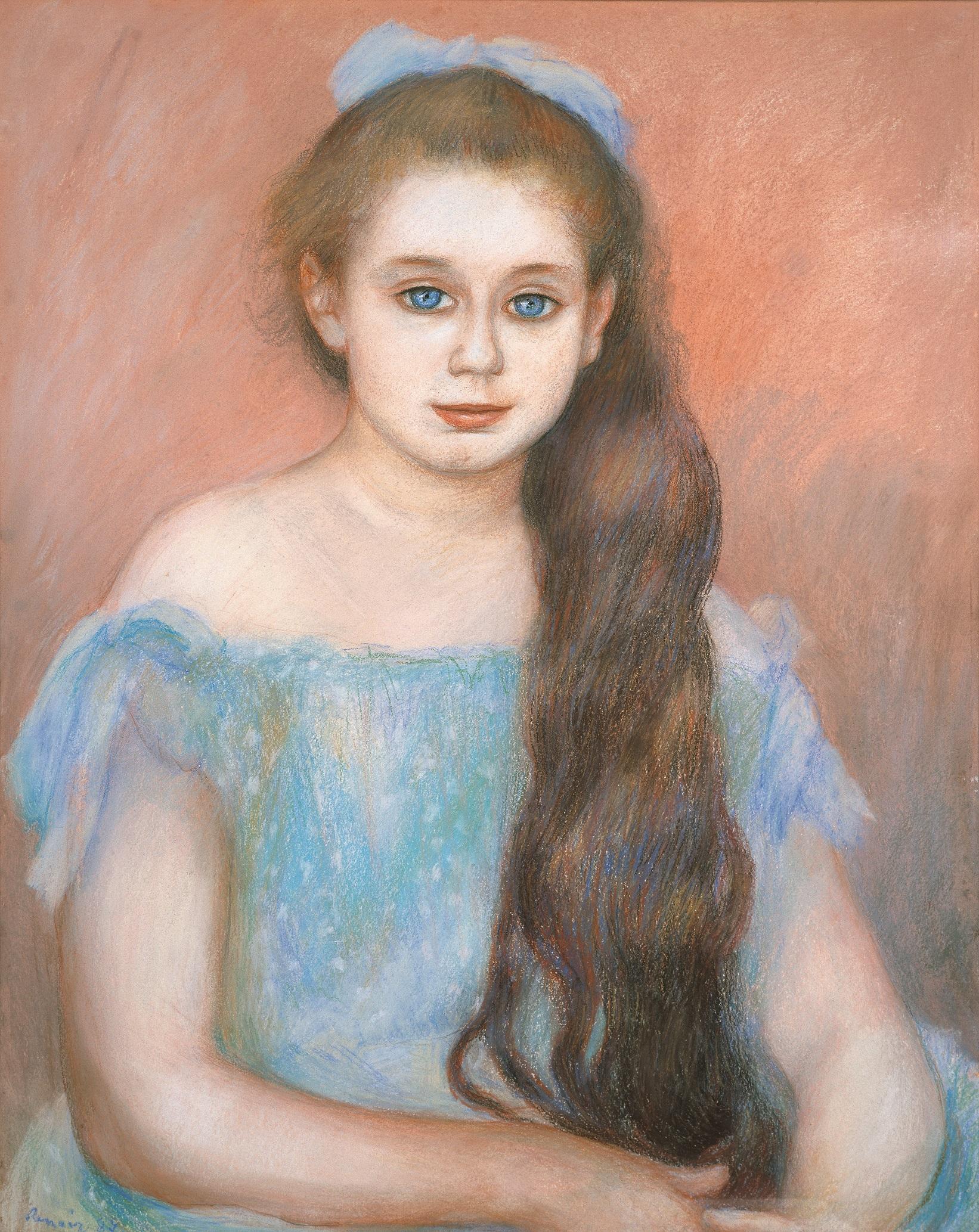 ルノワール「シュザンヌ・アダン嬢の肖像」(1887年、パステル/紙)