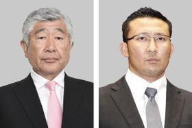 日本大アメリカンフットボール部の内田正人前監督、井上奨前コーチ